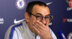 Maurizio Sarri says his relationship with the Chelsea hierarchy is unchanged by the Kepa Arrizabalaga furore (PA Video/PA)