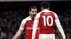 Mkhitaryan and Ozil starred for Arsenal (Adam Davy/PA)