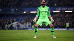 Willy Caballero kept a clean sheet for Chelsea (Nick Potts/PA)