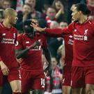 Sadio Mane celebrates his opening goal (Richard Sellers/PA)