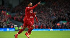 Georginio Wijnaldum insists Liverpool have never lost belief in the title race (Peter Byrne/PA)