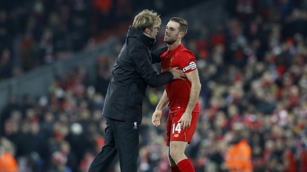 Jurgen Klopp insists it is vital all his players – including captain Jordan Henderson – are given sufficient rest (Martin Rickett/PA)