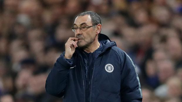 Maurizio Sarri believes the media are responsible for creating a pressurised environment for young players (Adam Davy/PA)