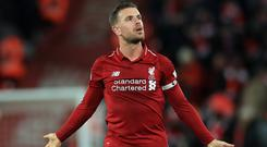 Captain Jordan Henderson insists Liverpool have to respond to allegations of title-race nerves on the pitch (Peter Byrne/PA)