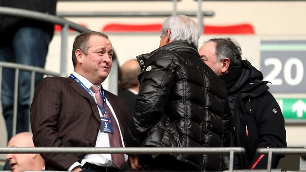 Newcastle owner Mike Ashley (left) has grown impatient with the lack of progress in takeover talks (Steven Paston/PA)