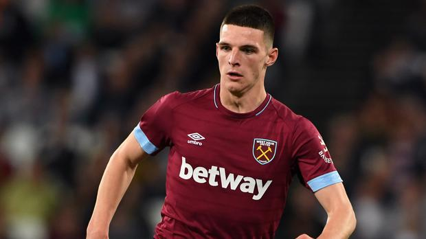 Declan Rice is officially eligible for England (Joe Giddens/PA)