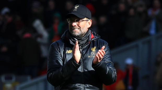 Liverpool manager Jurgen Klopp believes his side sent out an important message in the 4-2 win over Burnley (Peter Byrne/PA)