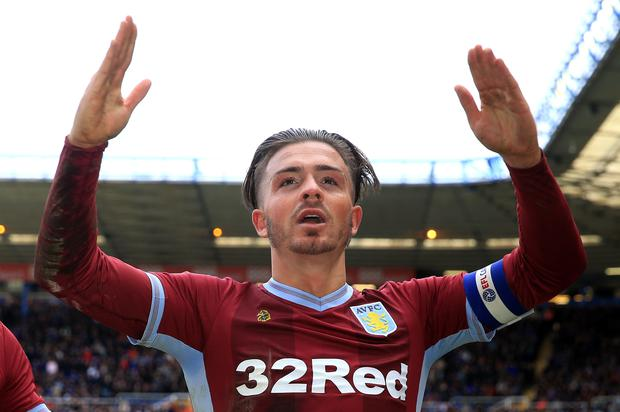 Aston Villa's Jack Grealish will be hoping to go one better than last year's Championship play-off final defeat to Fulham. Photo: Nick Potts/PA