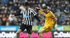 Newcastle midfielder Ki Sung-yueng (left) is back in action after a lengthy injury lay-off (Owen Humphreys/PA)