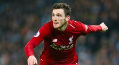 Defender Andrew Robertson preparing for his second Champions League final.(Richard Sellers/PA)