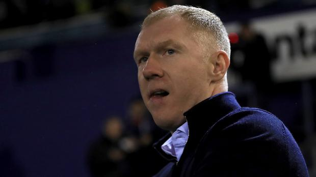 Paul Scholes left Oldham after just 31 days (Simon Cooper/PA)