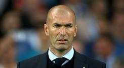 Zinedine Zidane's first game back at the Real Madrid helm was a 2-0 victory. Photo:Nick Potts/PA