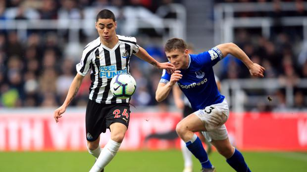 Newcastle's Miguel Almiron (left) has been tipped to make a big impact in the Premier League (Owen Humphreys/PA)