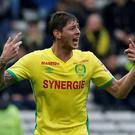 Emiliano Sala: He signed a contract with Cardiff that was rejected by the Premier League. Photo: PA