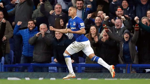 Richarlison wants Everton to build on their victory over Chelsea (Martin Rickett/PA)