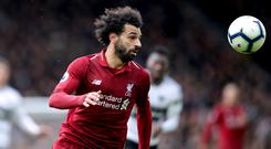 Liverpool's Mohamed Salah is on his longest goal-scoring drought for the club (Adam Davy/PA)