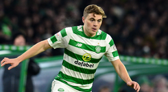 James Forrest: 'We just didn't turn up. That was unlike us. We were disappointed for a good wee while after that but now we have a chance to redeem ourselves'. Photo: Getty