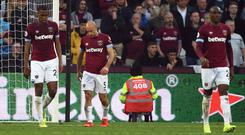 West Ham were well beaten by Everton (Daniel Hambury/PA)