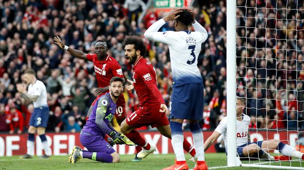 Liverpool back on top after Tottenham self-destructs at end