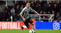 Newcastle midfielder Miguel Almiron is still awaiting his first goal for the club (Owen Humphreys/PA)