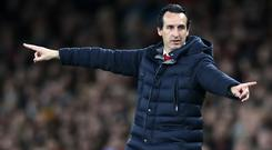 Unai Emery is not getting carried away (Adam Davy/PA)