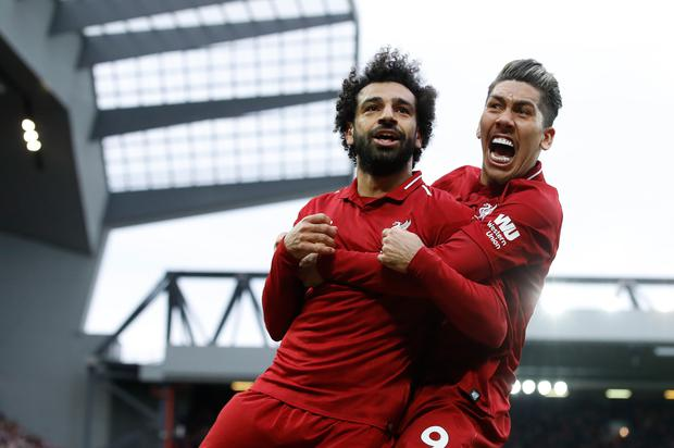Salah was thrilled with the late goal (Martin Rickett/PA)