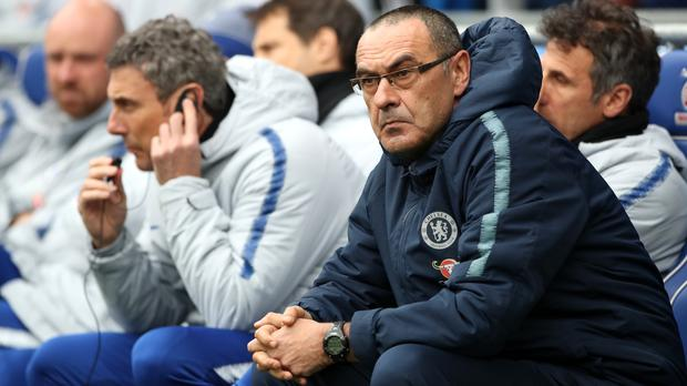 Maurizio Sarri's Chelsea host Brighton on Wednesday (Nick Potts/PA)