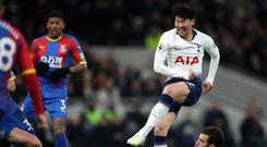 Son Heung-min scored the first competitive goal at the new stadium (Nick Potts/PA)
