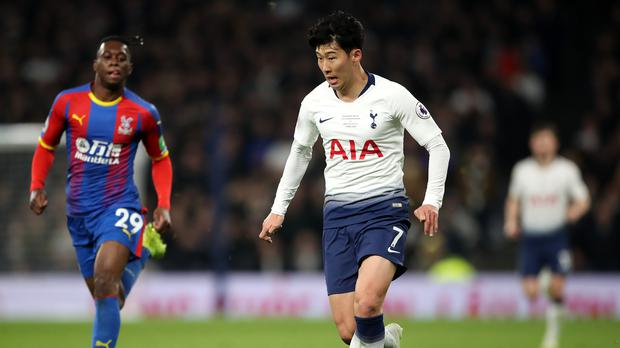 Son Heung-min scored the first competitive goal at Tottenham's new stadium (Nick Potts/PA)