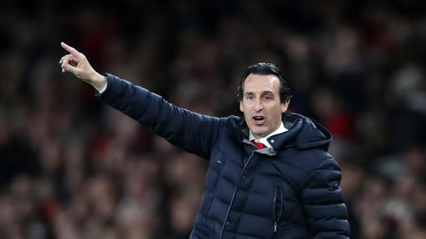 Unai Emery points the way to the top four for Arsenal (Adam Davy/PA)