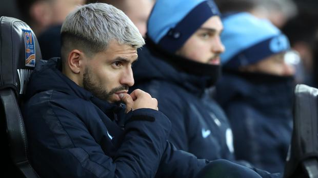 Sergio Aguero sat out Manchester City's midweek win (Nick Potts/PA)