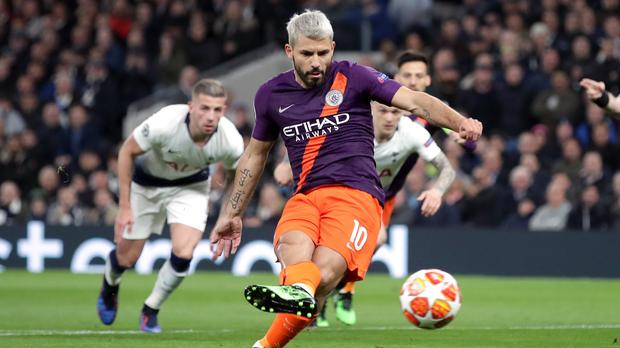 Manchester City were awarded a 13th-minute penalty after intervention from VAR (Adam Davy/PA)