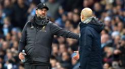 Jurgen Klopp and Pep Guardiola (Martin Rickett/PA)
