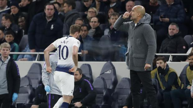 "Harry Kane suffered ""significant lateral ligament"" damage against Manchester City (Frank Augstein/AP)"