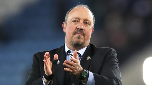 Newcastle manager Rafael Benitez celebrates their win at Leicester (Nick Potts/PA)