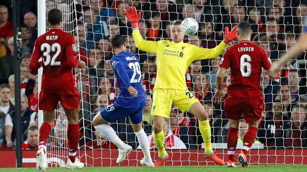 Goalkeeper Simon Mignolet, a survivor from the 2014 team whose title hopes were ended by Chelsea, insists there can be no comparison with the modern-day side (Martin Rickett/PA)