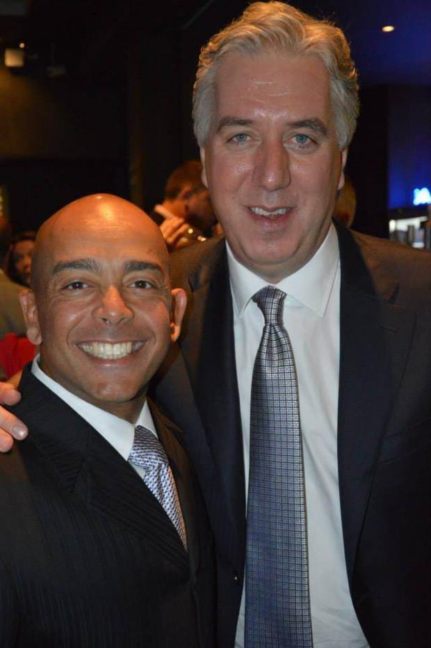 John Delaney with Sheikh Samir Mirdad, the FAI's 'international business strategist'
