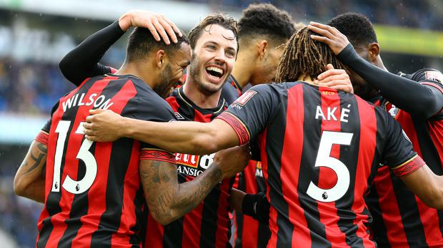 Bournemouth stunned Brighton at the Amex Stadium (Gareth Fuller/PA)