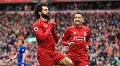Liverpool's Mohamed Salah and Roberto Firmino are missing tonight