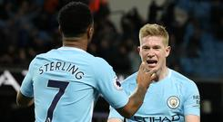 Kevin De Bruyne admits his first impression of Manchester City team-mate Raheem Sterling was wrong (Martin Rickett/PA)