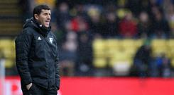 Watford manager Javi Gracia did not agree with the red card for Troy Deeney (Steven Paston/PA)
