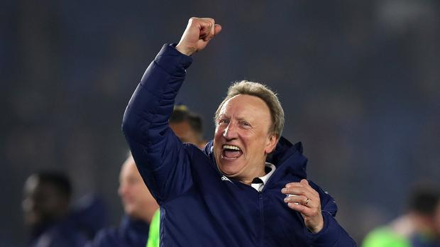 Will Cardiff manager Neil Warnock be celebrating at the end of the season? (Andrew Matthews/PA)