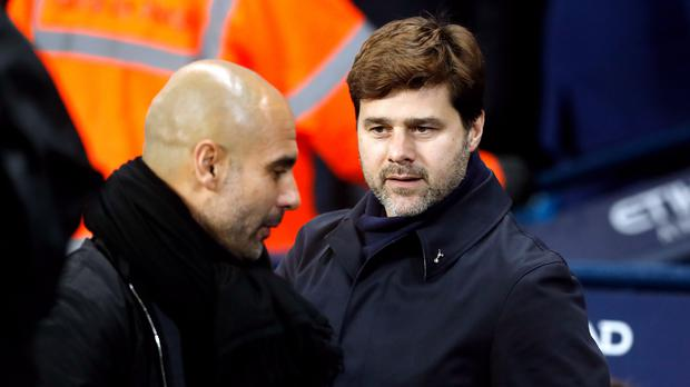 Manchester City and Tottenham face off again at lunchtime on Saturday (Martin Rickett/PA)