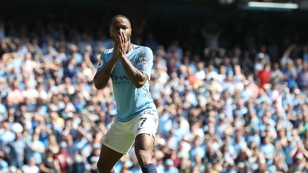 It was a frustrating afternoon for Raheem Sterling (Martin Rickett/PA)