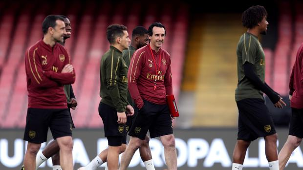 Unai Emery is keen to bring young talent into the Arsenal squad (Steven Paston/PA)