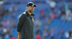 Liverpool manager Jurgen Klopp before the Premier League match at The Cardiff City Stadium, Cardiff.