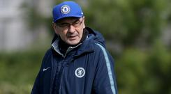 Maurizio Sarri believes there is too much hype surrounding the Champions League (Bradley Collyer/PA)