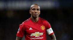 Ashley Young hopes Manchester United can respond to their humbling at Everton in this week's derby (Adam Davy/PA)