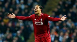 Virgil van Dijk says Liverpool can afford no slip-ups in the Premier League title race (Richard Sellers/PA)