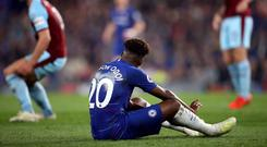 Chelsea's Callum Hudson-Odoi is facing a spell on the sidelines with a ruptured Achilles tendon (Adam Davy/PA)